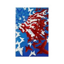 The Butterfly Flag PosterP Rectangle Magnet
