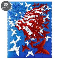 The Butterfly Flag PosterP Puzzle