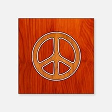 """wood-peace-BUT Square Sticker 3"""" x 3"""""""
