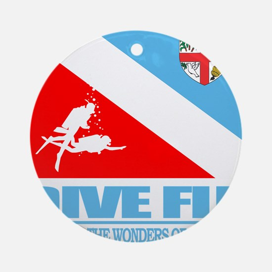 Dive Fiji Round Ornament