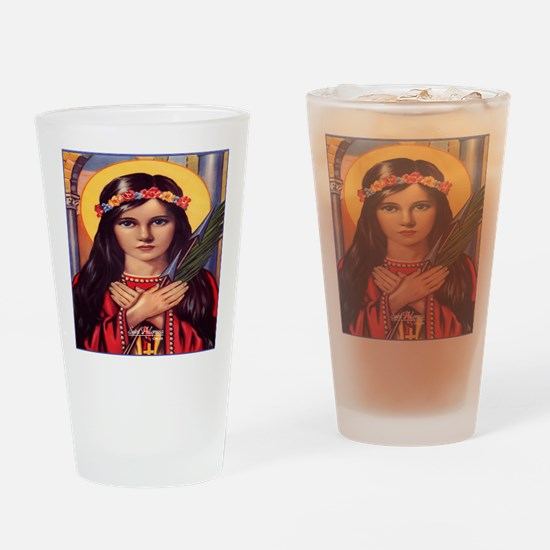Saint Philomena Drinking Glass