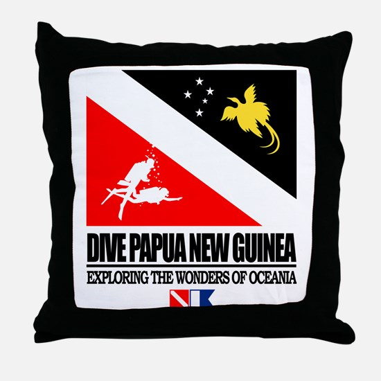 Dive Papua New Guinea Throw Pillow