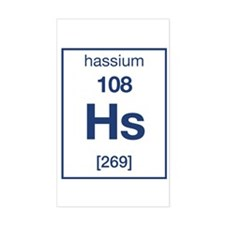 Hassium Rectangle Decal
