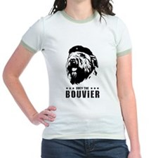 Obey the Bouvier! Women's Ringer T-Shirt