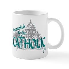 Grateful to be Catholic (Teal) Mug