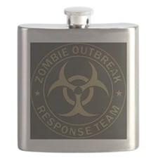 Zombie Outbreak Response Team Tan  Olive Flask