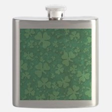 Shamrock Pattern Flask