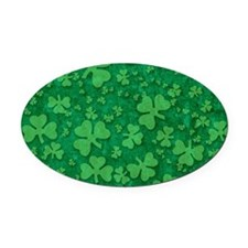 Shamrock Pattern Oval Car Magnet
