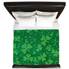 Shamrock Pattern King Duvet