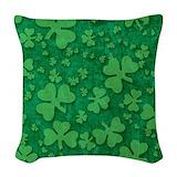St patricks day Woven Pillows