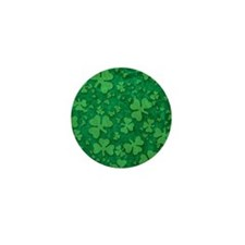 Shamrock Pattern Mini Button