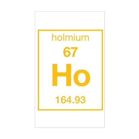 Holmium Rectangle Sticker