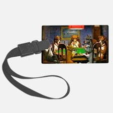 Card Playing Dogs Luggage Tag