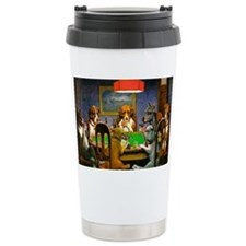 Card Playing Dogs Travel Mug