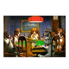 Card Playing Dogs Postcards (Package of 8)