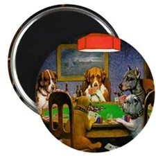 Card Playing Dogs Magnet