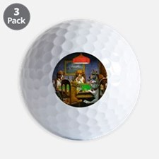 Card Playing Dogs Golf Ball