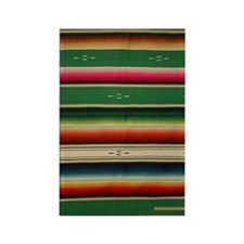 Vintage Green Mexican Serape Rectangle Magnet