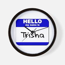 hello my name is trisha  Wall Clock