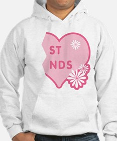 Pink Best Friends Heart Right Hoodie