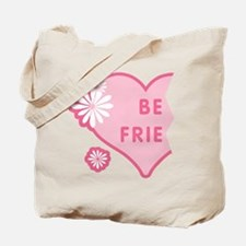 Pink Best Friends Heart Left Tote Bag
