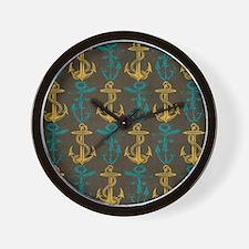 Anchors Wall Clock