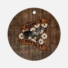 Redneck Royalty Round Ornament