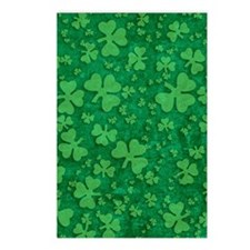 Shamrock Pattern Postcards (Package of 8)