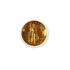 Ultra High Relief Gold Coin Mini Button