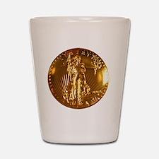 Ultra High Relief Gold Coin Shot Glass