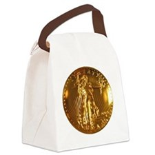 Ultra High Relief Gold Coin Canvas Lunch Bag