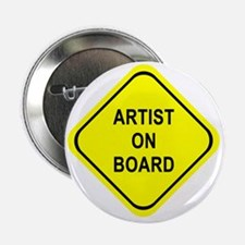 "ARTIST ON BOARD 2.25"" Button"