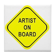 ARTIST ON BOARD Tile Coaster