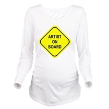 ARTIST ON BOARD Long Sleeve Maternity T-Shirt
