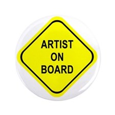 "ARTIST ON BOARD 3.5"" Button"
