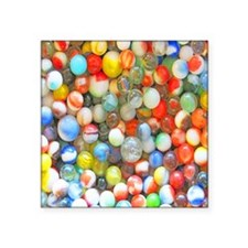 "Colorful Marbles Square Sticker 3"" x 3"""