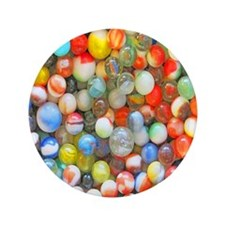 """Colorful Marbles 3.5"""" Button"""
