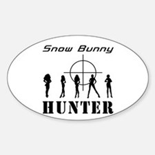 Snow Bunny Hunter Oval Decal