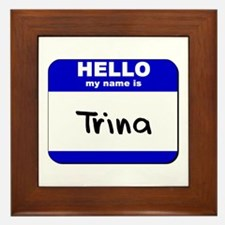 hello my name is trina  Framed Tile