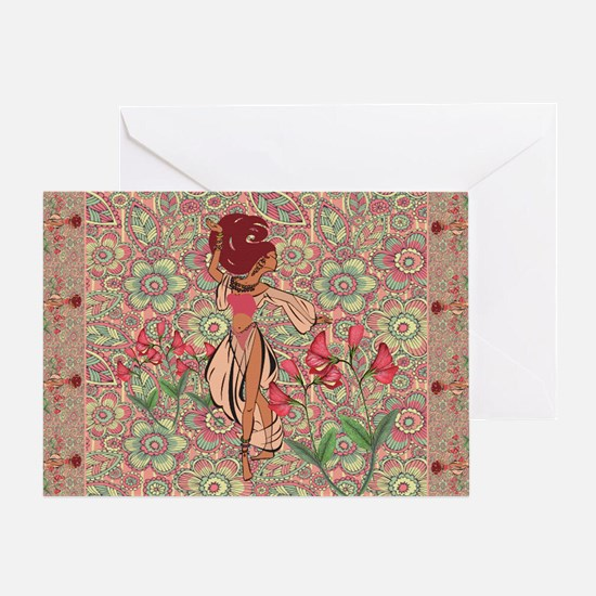 belly dancer area rug Greeting Card
