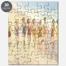 Vintage Beach Beauties Postcard Puzzle