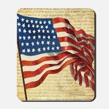 Vintage American Flag Constitution Mousepad