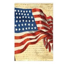 Vintage American Flag Con Postcards (Package of 8)