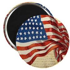Vintage American Flag Constitution Magnet