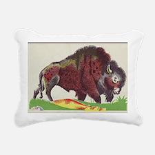 bison Rectangular Canvas Pillow