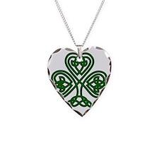 Celtic Clover (dark) Necklace Heart Charm