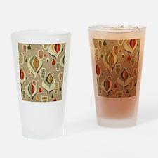 Vintage Mid-Century Modern Barkclot Drinking Glass