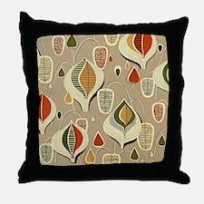 Vintage Mid-Century Modern Barkcloth Throw Pillow
