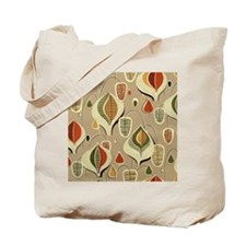 Vintage Mid-Century Modern Barkcloth Tote Bag