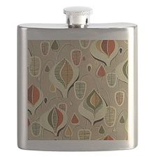 Vintage Mid-Century Modern Barkcloth Flask